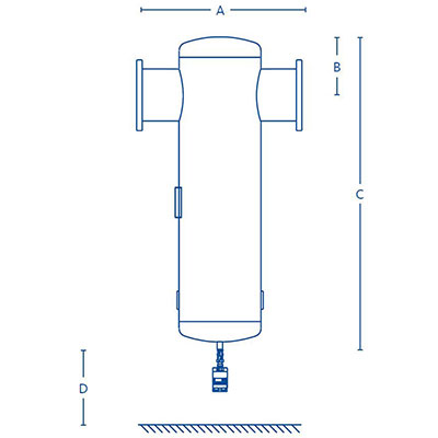 Clearpoint flange water separators Dimensions