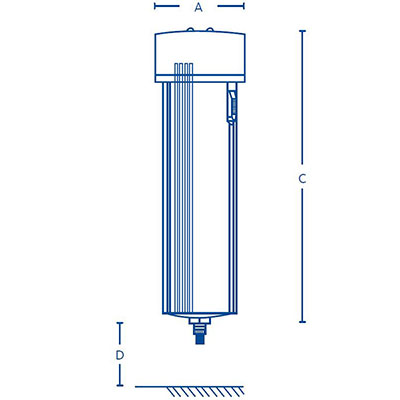 Clearpoint threaded separator Dimensions
